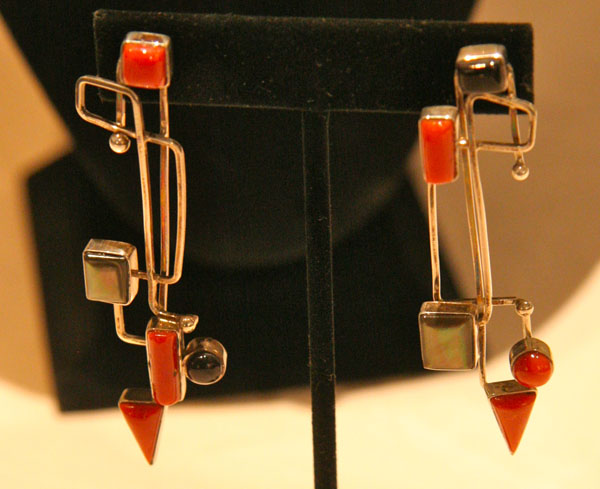 Earrings by Veronica Poblano