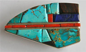 Belt Buckle by Lyndon Tsosie